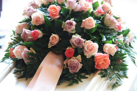 Image of Flowers at funeral