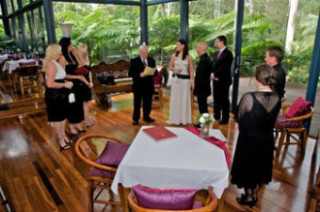 Robert as Celebrant at Ben & Gaby's Wedding (2009) at Pethers Resort, North Tambourine