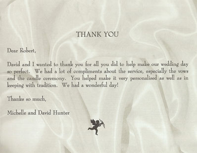 Michelle & David wedding testimonial