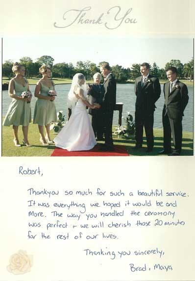 Brad & Maya wedding testimonial